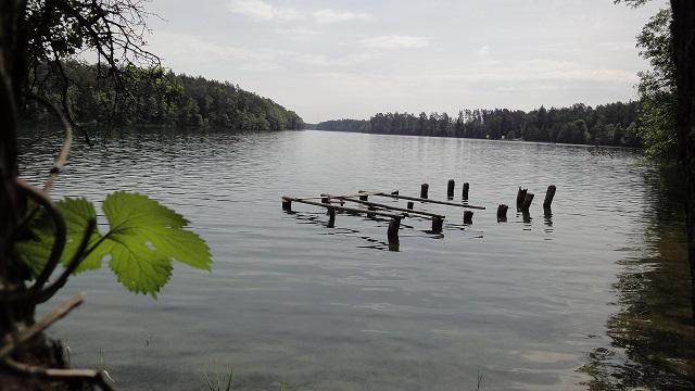 nurkowanie jezioro lesk