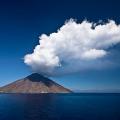 Smoking Volcano: Stromboli Island, Italy